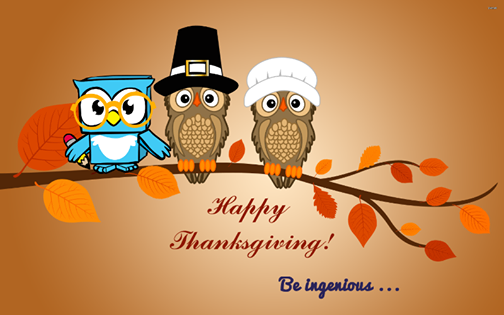 Happy Thanksgiving from Genius Owl, and don't forget about our Minecraft Birthday Parties in Richmond Hill
