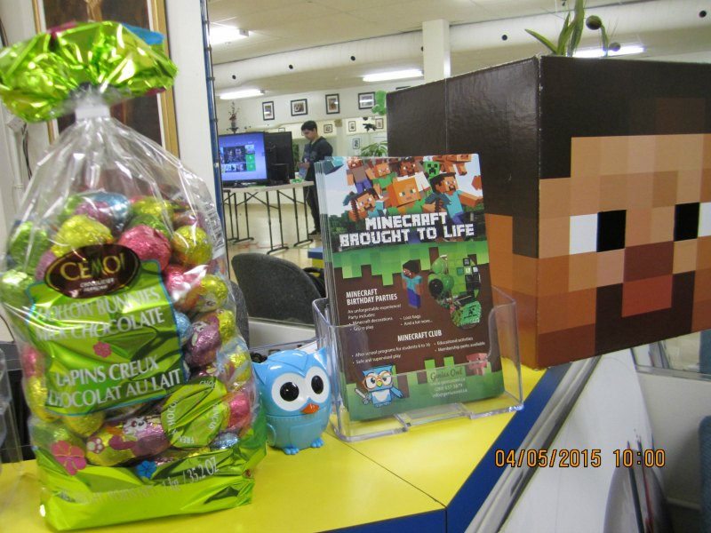 Minecraft Easter Egg Hunt at Genius Owl in Richmond Hill