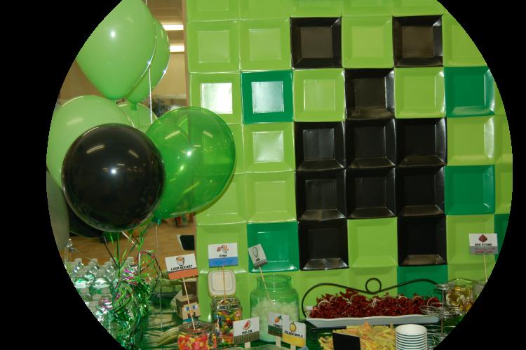 Minecraft birthday party at Genius Owl