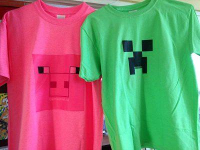 Genius Owl Minecraft Party Tshirts