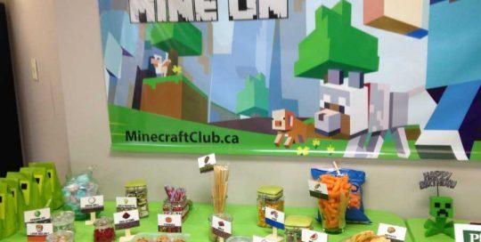 Genius Owl's Minecraft themed snacks