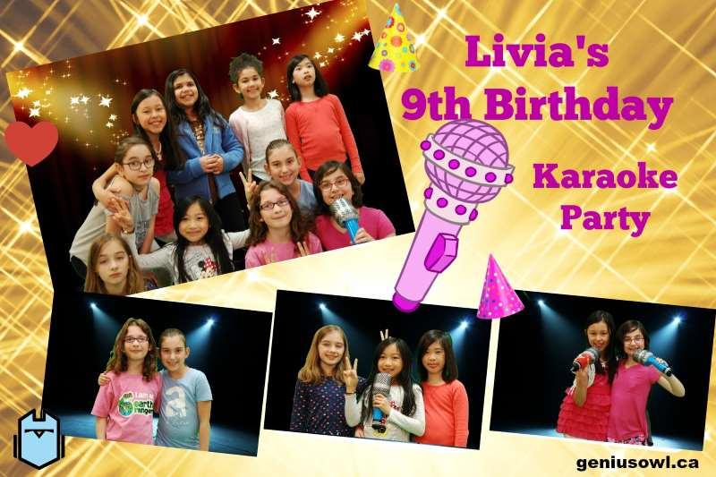 Genius Owl karaoke birthday party