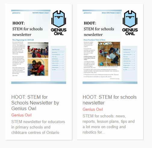 Genius Owl STEM for schools newsletter