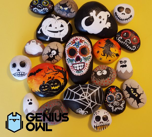 Genius Owl Halloween Rock Art Workshop