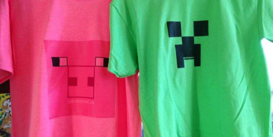Genius Owl Minecraft Party Tshirts