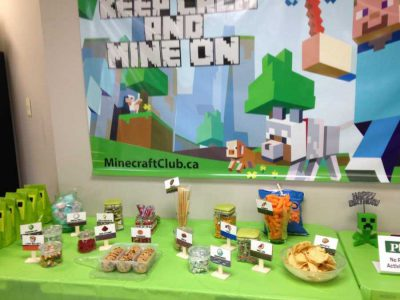 Genius Owl's Minecraft themed snacks