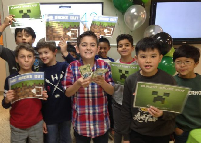 Genius Owl Minecraft Breakout Birthday party